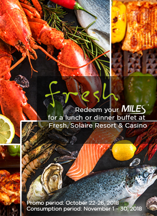 Use your Miles for a Lunch or Dinner buffet at Fresh