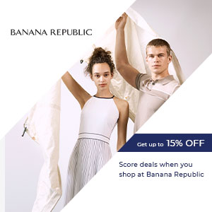 Score deals when you shop at Banana Republic
