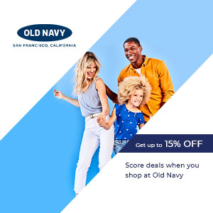 Score deals when you shop at Old Navy