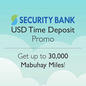 Get Miles when you open a USD Time Deposit Account
