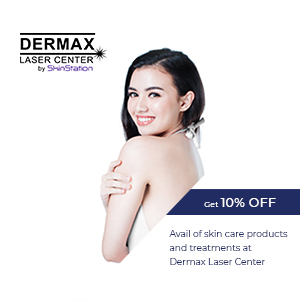 Avail of skin care products and treatments at Dermax Laser Center