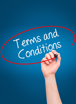 This an image of terms and conditions text