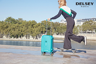 Travel with superior quality luggage with Delsey Paris