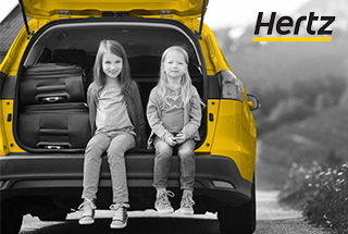 Earn up to 1,500 miles and get 10% off HERTZ rentals worldwide
