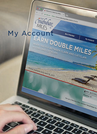 Image of Earn Double Miles campaign in the website